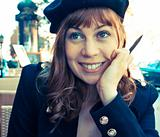 Female Outdoor Cafe Portrait