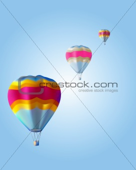 three balloon