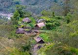 A traditional  mountain village in Papua, Indonesia