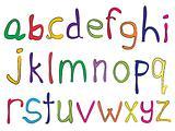 hand made alphabet