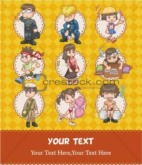 cartoon school card