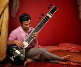 Young Sitar Musician