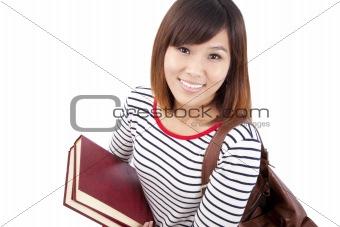 Smiling Asian university student