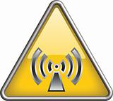 Non ionizing radiation icon, symbol