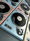 Turntables background