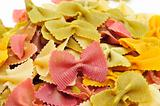 uncooked vegetables farfalle