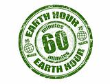 Earth hour stamp