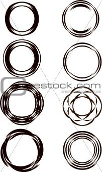 Circular designs of circular swirls