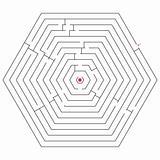 hexagonal black maze