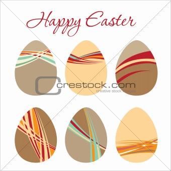 Modern Egg for Easter holiday celebration