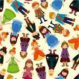 seamless Prince and Princess pattern