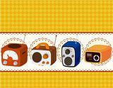 cartoon radio card