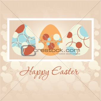 Easter greeting card with Easter eggs
