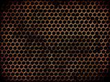 Grunge perforated metal