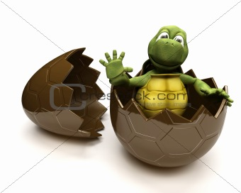 Tortoise with an ester egg