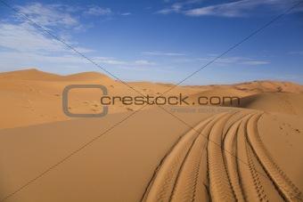 Desert landscape, merzouga, marocco