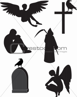 Death. Vector set