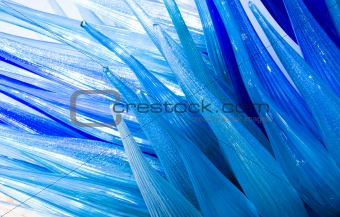 Abstract background - blue wave