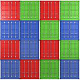 Background of multiple color freight containers