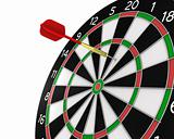 Dart missed the center