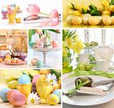 Collage of colorful easter images