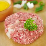 Raw Meatball Garnished with Parsley