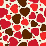 Cute hearts seamless background. EPS 8