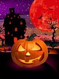 Happy Halloween Pumpkin, Jack O Lantern. EPS 8