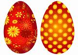 Red Easter`s eggs