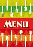Vector menu of restaurant