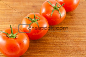 Tomatoes on a row