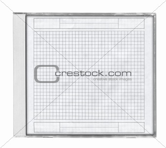 cd case with squared paper