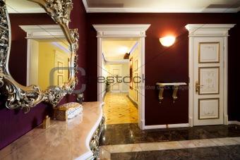 corridor with a door