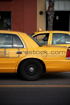 cabs in the city