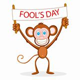 Monkey wishing Fool's Day