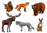 European animals (vector)