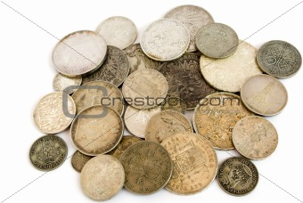 Old european silver coins