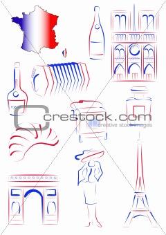 France sights and symbols