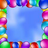 Balloons in the blue sky