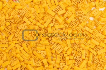 Close up of italian pasta - alphabet shaped