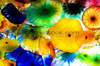 Abstract textured background with the many shapes