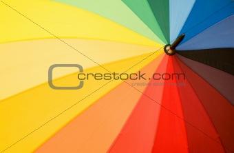 Close up of multi sector colourful umbrella
