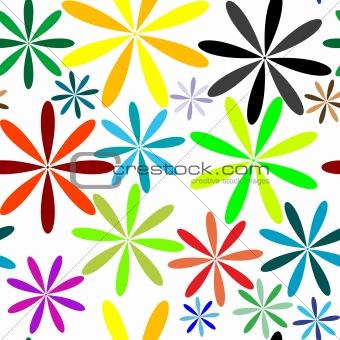 little flowers seamless pattern