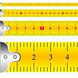 measuring tape focus vector