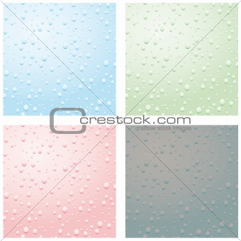 A set of raindrops