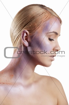 powder creative make up girl