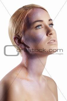 powder beauty portrait