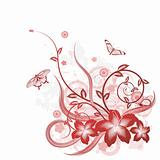Beautiful flower background motif