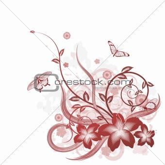 Beautiful flower background motif