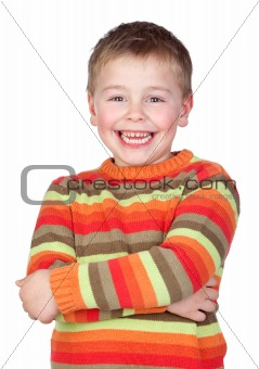 Adorable child with blond hair